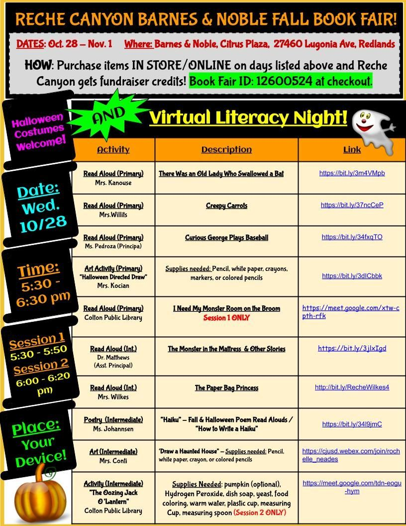 Literacy Night 2020