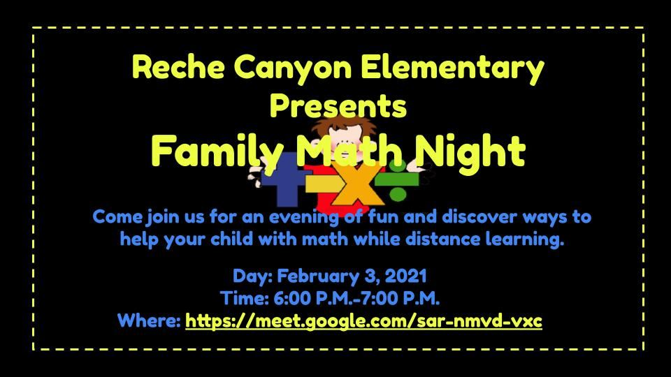 Virtual Family Math Night!
