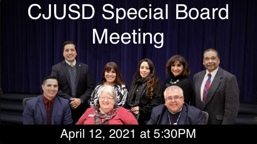 CJUSD Special Board Meeting